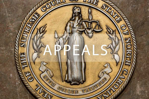 Appeal and appellate attorney NC