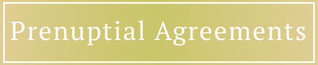 Prenuptial Agreements Banner